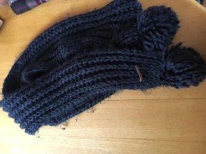 Opus Gebreide sjaal zwart