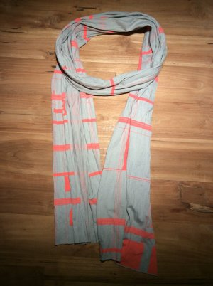 Diesel Summer Scarf grey-neon orange