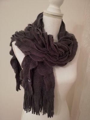 Cecil Gebreide sjaal donkergrijs