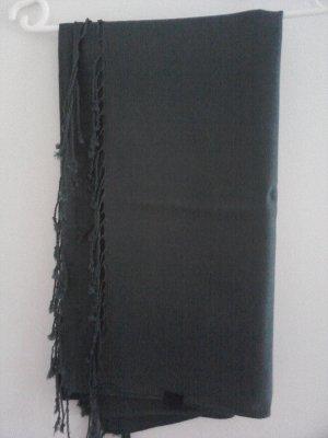 Vero Moda Sjaal met franjes donkergroen Gemengd weefsel