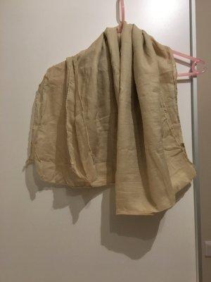 Bufanda de seda crema