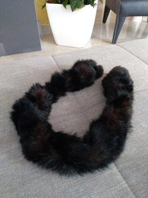 Sciarpa marrone scuro Pelliccia