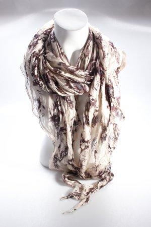 Scarf patterned beige-brown