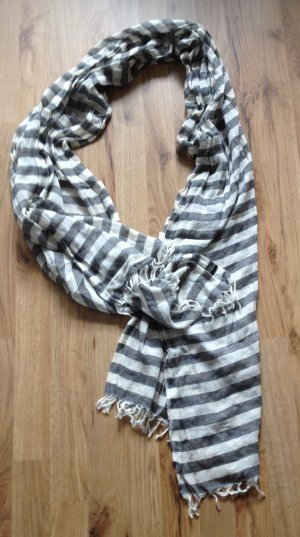 Hugo Boss Scarf white-grey