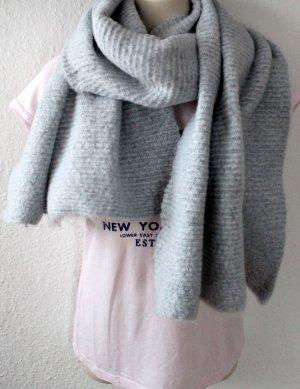 H&M Bufanda de lana gris claro Poliéster
