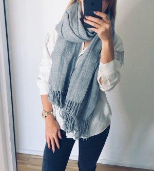 Sciarpa lavorata a maglia grigio chiaro-grigio