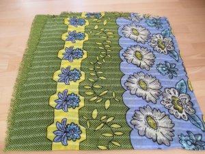 Großes quadratisches Tuch von ZARA, blau gruen gelb