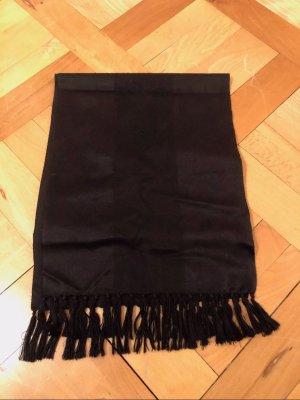 Gucci Sjaal met franjes zwart Zijde