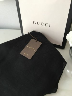 Gucci Pashmina negro tejido mezclado