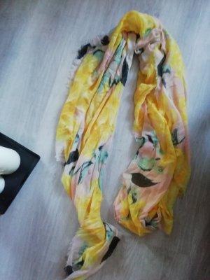 Schal H&M Floral Herbst Shawl Scarf Fransen