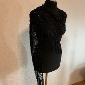 Écharpe en crochet noir