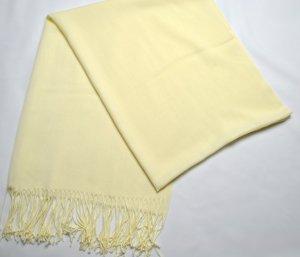 Schal Hellgelb gute Qualität blickdicht Pastelfarben