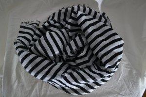Schal Hijab gestreift Schwarz Weiß