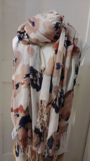 H&M Foulard brun noir-or rose