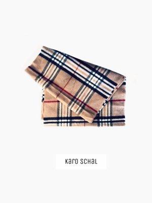 Schal in camalton Kamel Karo streifen braun rot schwarz weich | cashmink | uni