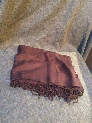 Schal in dunkelbraun