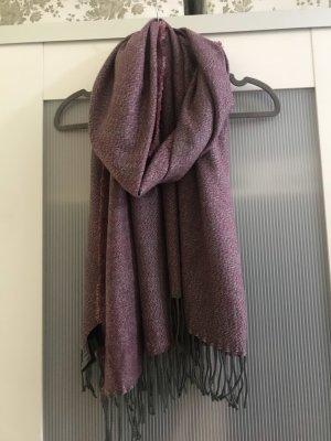 Esmara Sciarpa con frange grigio scuro-grigio-lilla