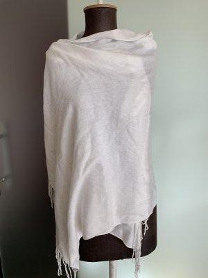 Schal in Paschmina Optik in weiß