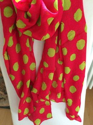 Schal in Pink und grün