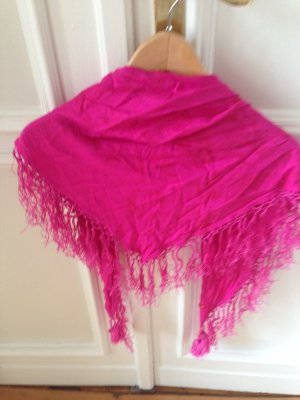 Schal in Trendfarbe Pink