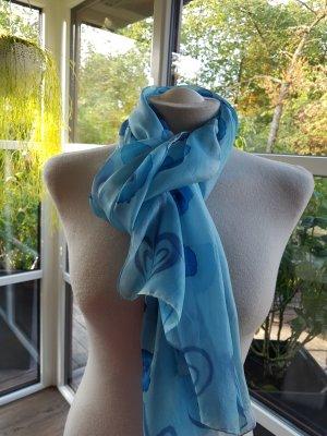 Bufanda de seda turquesa