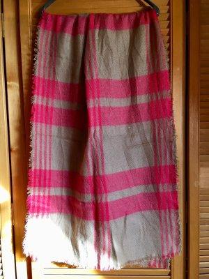 Crochet Scarf beige-pink