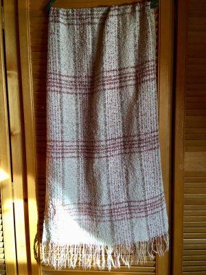 Gehaakte sjaal beige-roze