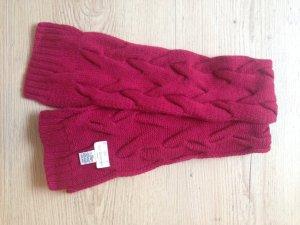 Bufanda de punto rojo frambuesa-magenta