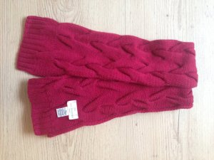 Knitted Scarf raspberry-red-magenta