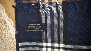 Schal klassisch sehr weich Farbe:  blau braun weiss - unisex