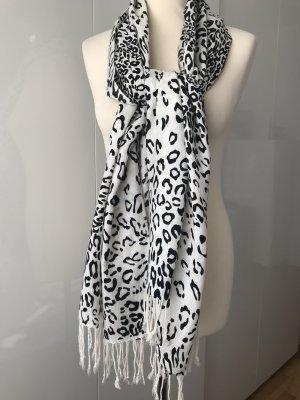Schal, Leo-Druck, schwarz-weiß, Animalprint