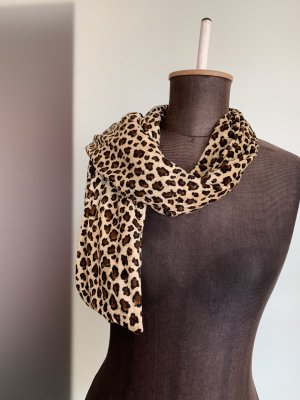Schal Leoparden Muster Samt Optik