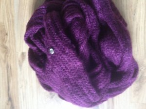 Schal lila/violett mit kleinem Strassstein