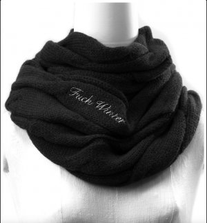 Schal Loop Snood Black Silver von Fuck Winter