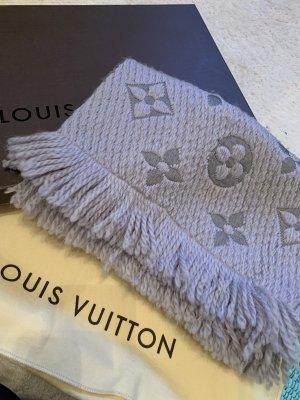 Louis Vuitton Bufanda de punto gris claro