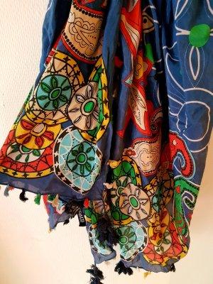 Schal mit Blumenprint aus Seidenmischgewebe