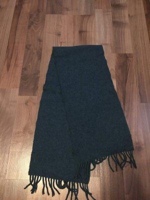 Schal mit Fransen blaugrün, sehr selten getragen