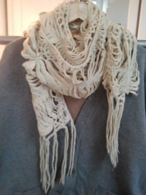 H&M Knitted Scarf cream-oatmeal mixture fibre