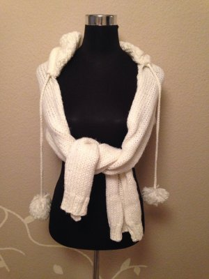 Schal mit Kapuze weiß