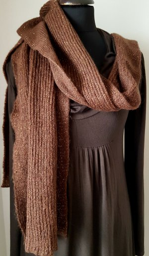 0039 Italy Knitted Scarf bronze-colored-brown