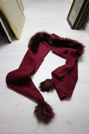 Sjaal karmijn