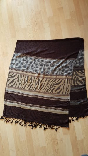 Schal mit Raubtier/Zebra/Puma look