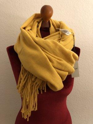 Schal mit Wollanteil Gelb