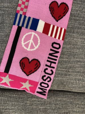 Moschino Sciarpa lavorata a maglia multicolore