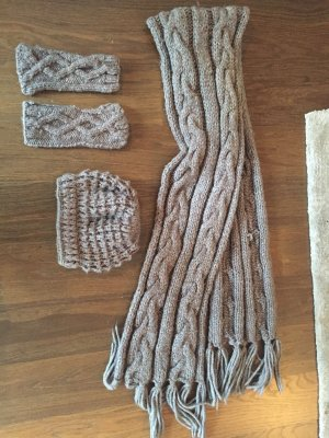 Seeberger Knitted Hat grey brown