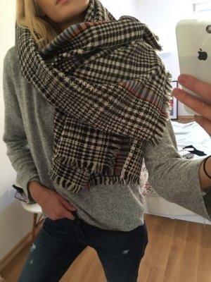 Schal Muster Überwurf Karo bunt xl chic cool bunt schwarz weiß