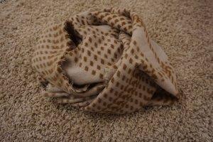 Only Bufanda de lana marrón claro-beige claro