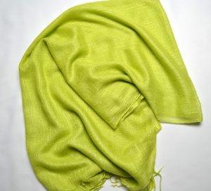 Schal Pashmina Hijab Sommerlich dünn grün Hellgrün Pistazie