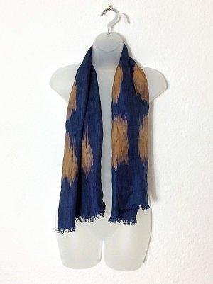 Schal Pelo reine Seide Evening Blue & Hazel blau und sand Vintage