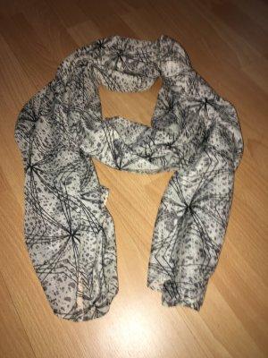 Schal Pieces grau, weiß, schwarz lang